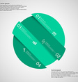 Infographic template with green circle askew vector image vector image