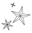 line art black white christmas stars vector image vector image