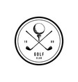 logos for golf clubs tournament circular vintage vector image
