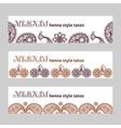 mehndi web banners set vector image