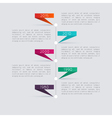Minimal infographics design vector image vector image