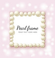 pearl beads frame vector image vector image