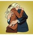 People in retro style pop art Loving couple vector image