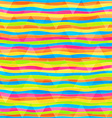 rainbow lines seamless pattern vector image vector image