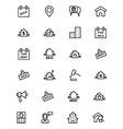 Real Estate Line Icons 4 vector image vector image