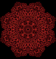red metal flower vector image vector image