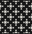seamless pattern monochrome geometric floral vector image vector image