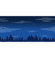Seamless pine trees at night vector image vector image