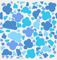 seamless retro geometric pattern with clouds vector image vector image