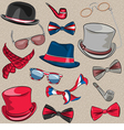Set hipster accessories vector image