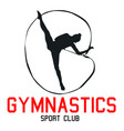 sport gymnastics sport club background imag vector image