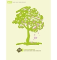 Stylized flowering crabapple tree vector image