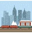 Suburban train station vector image vector image