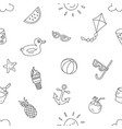 summer beach holiday seamless pattern ready to vector image