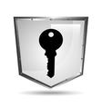 symbol key safety shield steel icon vector image
