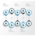 types icons colored set with text file image vector image vector image