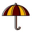 Umbrella protection symbol vector image
