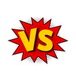 versus comic letters vector image vector image