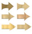 Vintage Paper Arrows Set vector image vector image