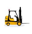 yellow vehicle forklift vector image vector image