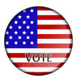 button with flag vector image