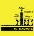 no teamwork with word tag vector image