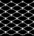 skull and bones seamless pattern background vector image