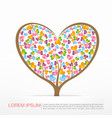 002 heart tree element for valentine day and vector image vector image