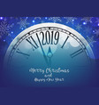 2019 happy new year with retro clock vector image vector image
