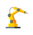 3d robot arm welding at factory line modern plant vector image vector image