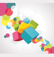 abstract background with cubes 3d design vector image vector image