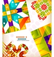 Abstract geometric retro shapes for backgrounds vector image vector image