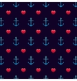 Anchor patternSeamless love wedding and valentine vector image vector image