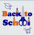 back to school on notebook concept background vector image