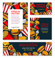 banners posters for fast food restaurant vector image vector image