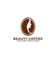beauty coffee design colorful concept template vector image