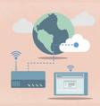 big data cloud computing concept flat design vector image vector image