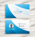 blue wave clean business card vector image vector image