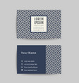 business card art deco design template 02 vector image vector image