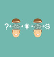 businessman character makes money vector image