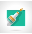Champagne flat color icon vector image