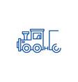 childrens locomotive line icon concept childrens vector image