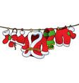 christmas costume on clothesline vector image