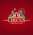 circus banner circus ticket amazing show flat vector image