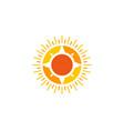 compass sun logo icon design vector image vector image