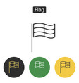 Competition sport flag line icon