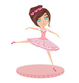 Cute Ballerina girl vector image