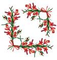 decorative frame flowers alstroemeria vector image vector image