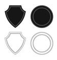 design of emblem and badge sign set of vector image