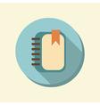 flat web icon phone address book vector image